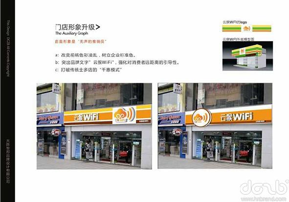 """2015年元月,步步高集团旗下""""云猴""""WIFI便利店正式与我公司签约品牌形象设计"""