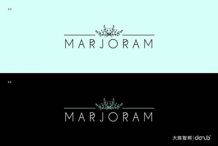 这个西餐厅叫Marjoram,意为马乔莲,马乔莲生长在法国和地中海国家的山峦上,有着浓郁宜人的香气,在希腊人及罗马人传统的婚礼中,会把用马乔莲做成的美丽花冠戴在新人头上,象征婚姻美满幸福。因此这个餐厅品牌设计用植物的形象作为设计元素也不奇怪了,小清新的薄荷绿搭配手绘的马乔莲插画,凸显了餐厅轻食主义的定位,使餐厅设计更加清新明快。                      大陈智邦(长沙)品牌设计有限公司是一家专注于品牌规划、品牌设计策划、品牌维护的整合商业机构,多年来积累的经典案例让我们已成为湖南最专业